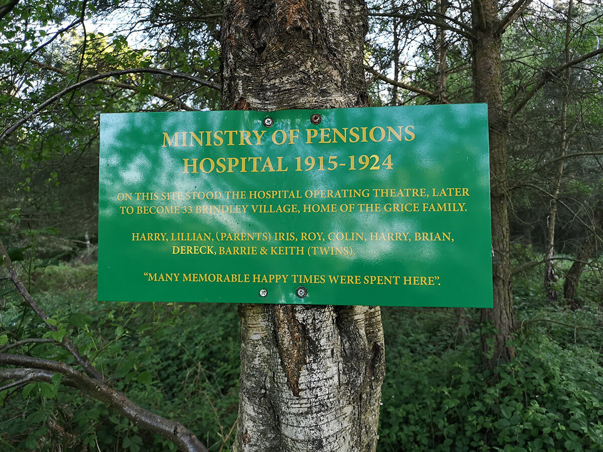Brindley Military Hospital Memorial Sign
