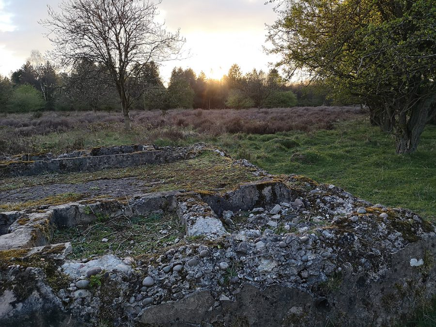 Remains of an army building at Penkridge Bank
