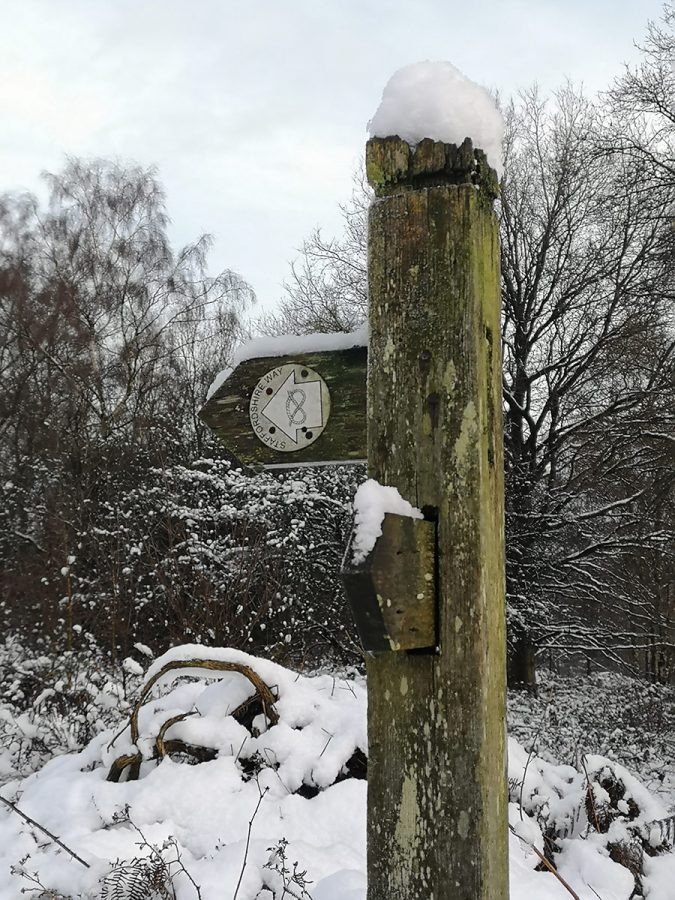 Countryside in Winter - Staffordshire Way Signpost
