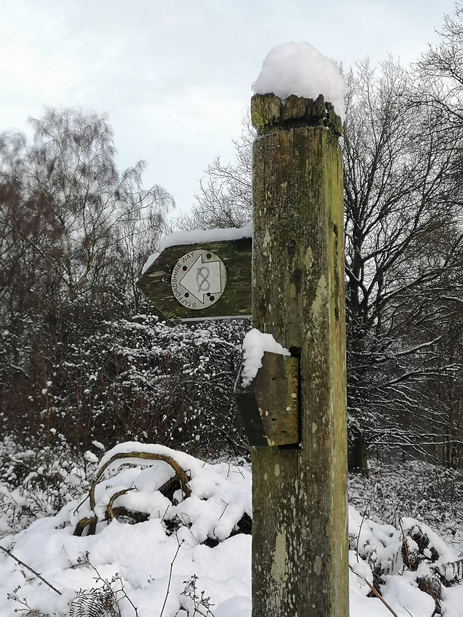 Staffordshire Way Countryside Signpost