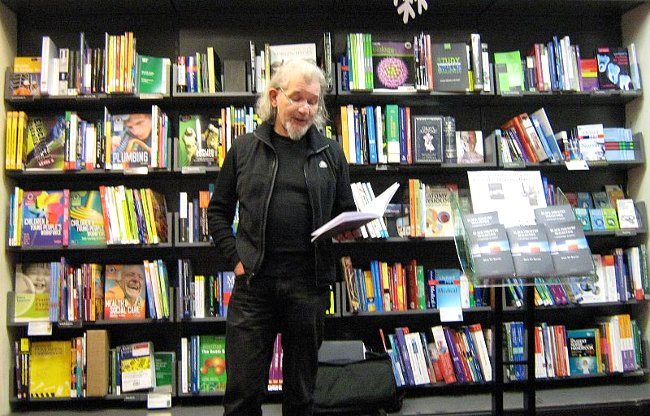 Dave Reeves reading at Waterstones, Wolverhampton